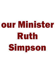 our Minister  Ruth Simpson